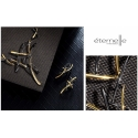Exkluzivní souprava šperků Dionisis - černozlatá