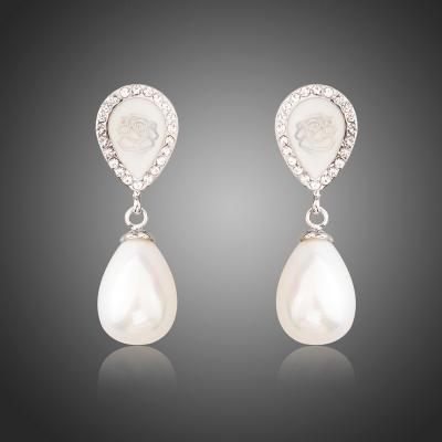 Náušnice s perlou Rosi