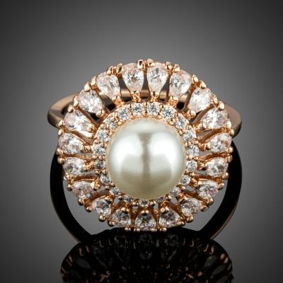 Prsten Swarovski Elements s perlou Laurence