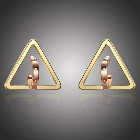 Pozlacené náušnice Ines - trojúhelník