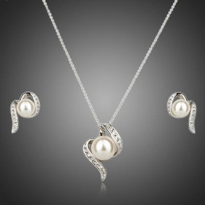 Souprava náhrdelníku a náušnic s perlou Aiglentia