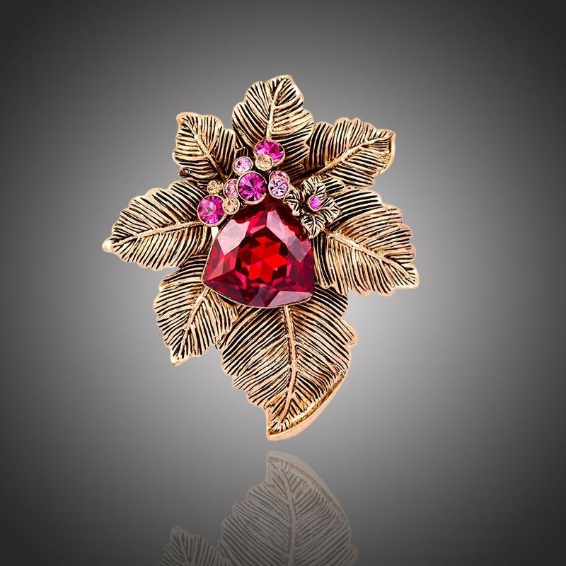 Exkluzivní brož Swarovski Elements Simonita - květina