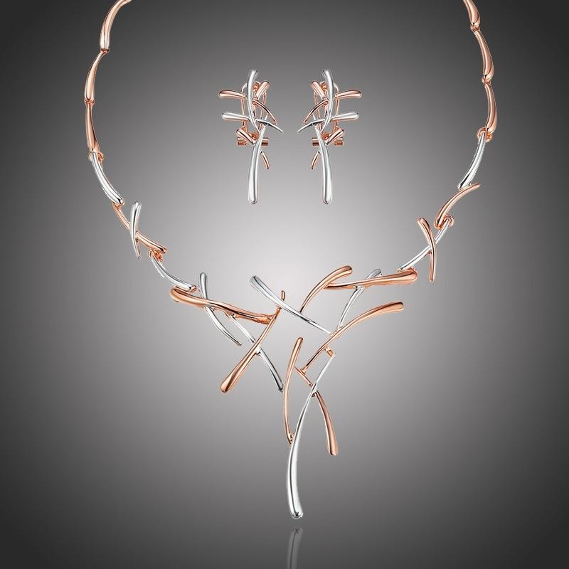 Exkluzivní souprava šperků Dionisis - růžové pozlacení
