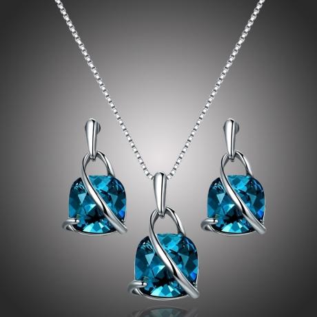 Exkluzivní souprava náhrdelníku a náušnic Swarovski Elements Cintia