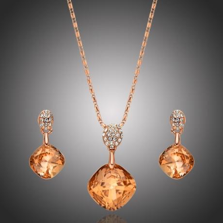 Exkluzivní souprava náhrdelníku a náušnic Swarovski Elements Daira