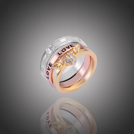 Prsten Triple Love 3v1