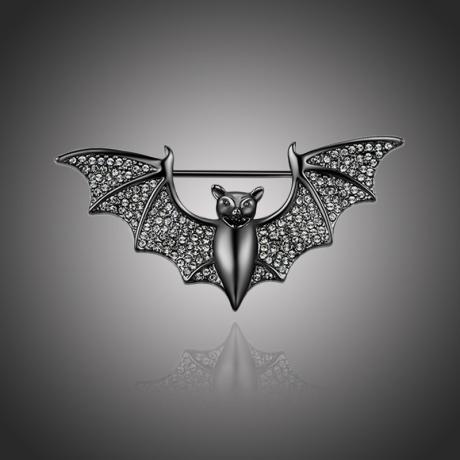 Brož Swarovski Elements Leandra - netopýr