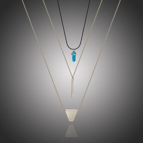 Exkluzivní trojitý náhrdelník Genevieve