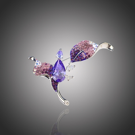Brož Swarovski Elements Marcelle - květina