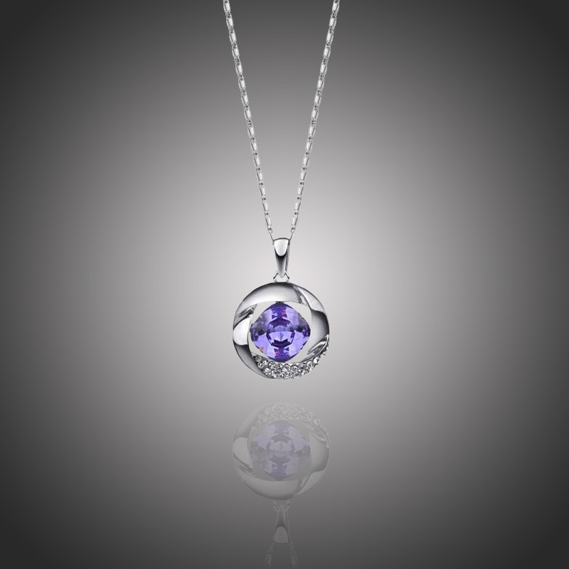 Náhrdelník Swarovski Elements Violeta - kruh