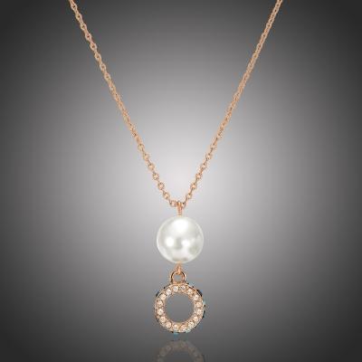 Náhrdelník Swarovski Elements s perlou Farinia
