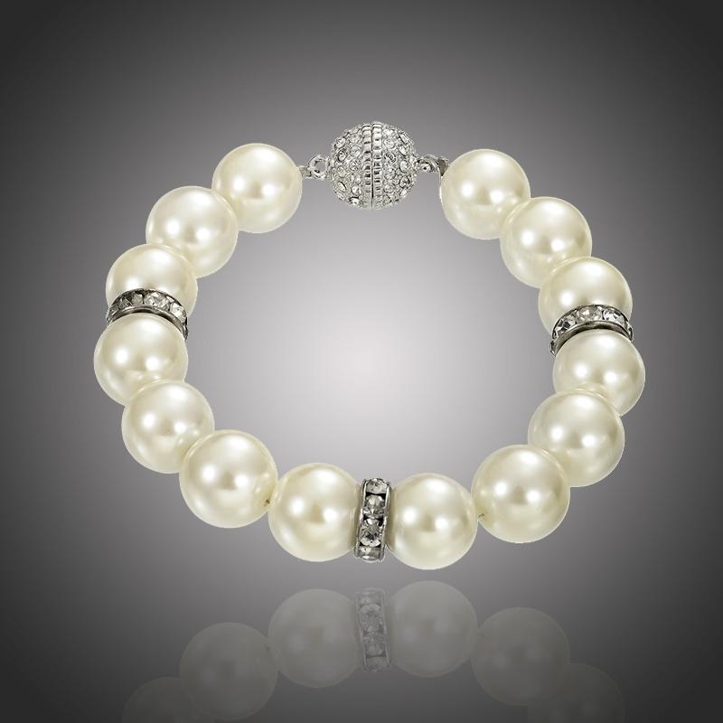 Exkluzivní náramek s perlou a zirkony Noblessa