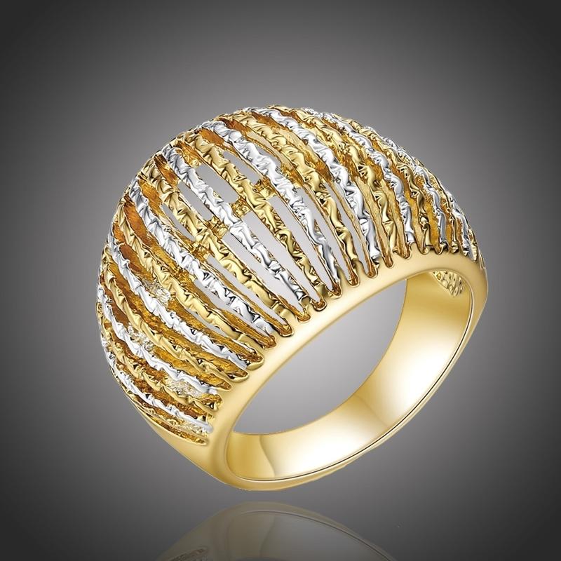 Luxusní pozlacený prsten Susana