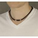 Pánský náhrdelník Connor chirurgická ocel, bavlněná šňůrka