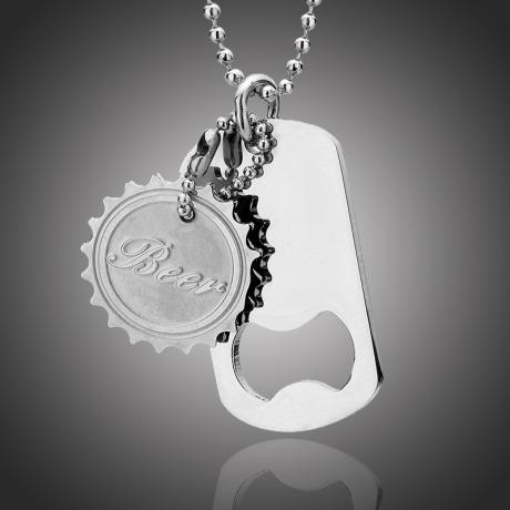 Pánský náhrdelník Ricardo chirurgická ocel - otvírák