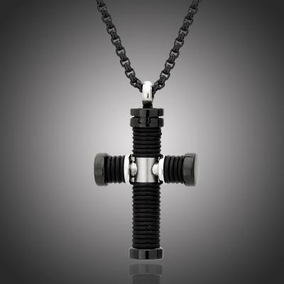 Pánský náhrdelník Henri chirurgická ocel - kříž