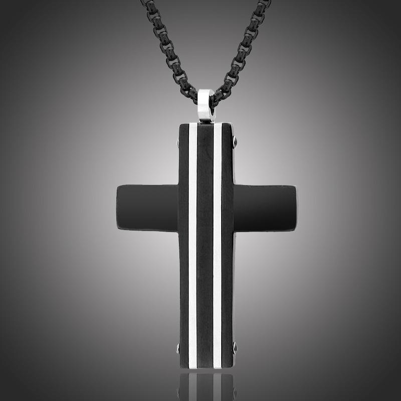 Pánský náhrdelník Pablo chirurgická ocel - kříž