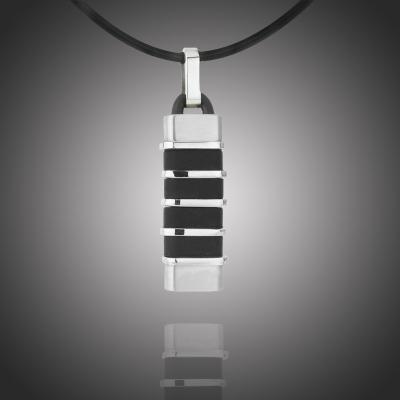 Pánský náhrdelník Joseph chirurgická ocel, kaučuk