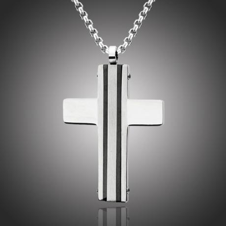 Pánský náhrdelník Michel chirurgická ocel - kříž