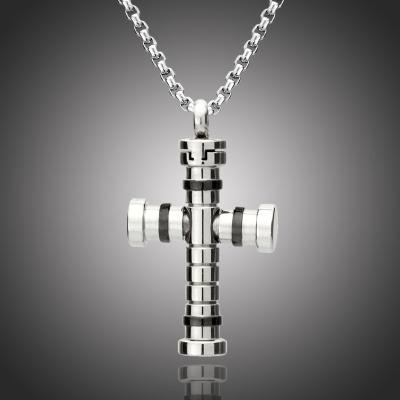 Pánský náhrdelník André chirurgická ocel - kříž