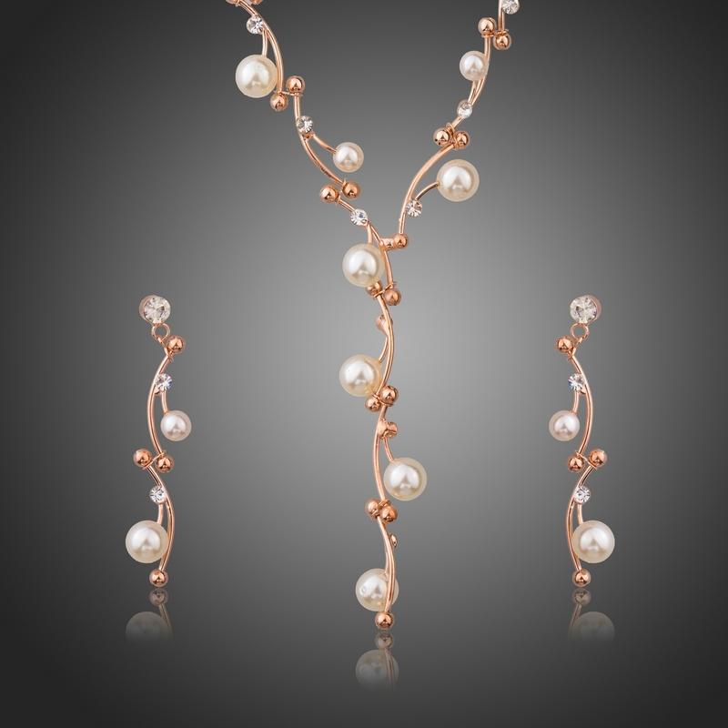 Souprava Swarovski Elements s perlou Calandre