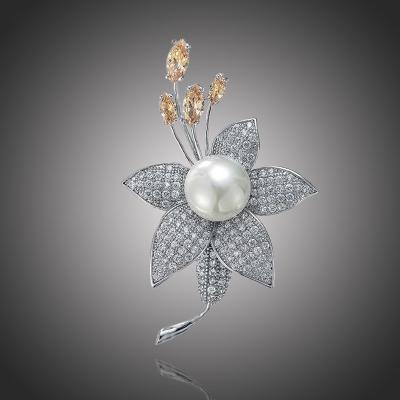 Exkluzivní brož Swarovski Elements Giulietta - květina
