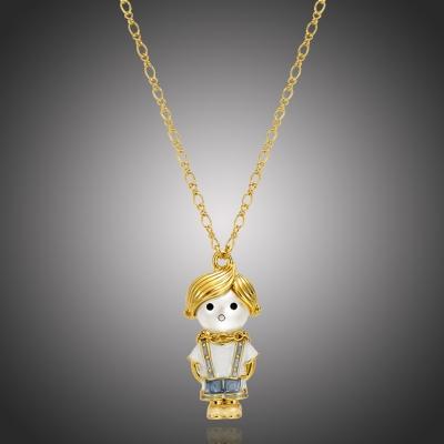 Dlouhý náhrdelník s perlou Little Johnny