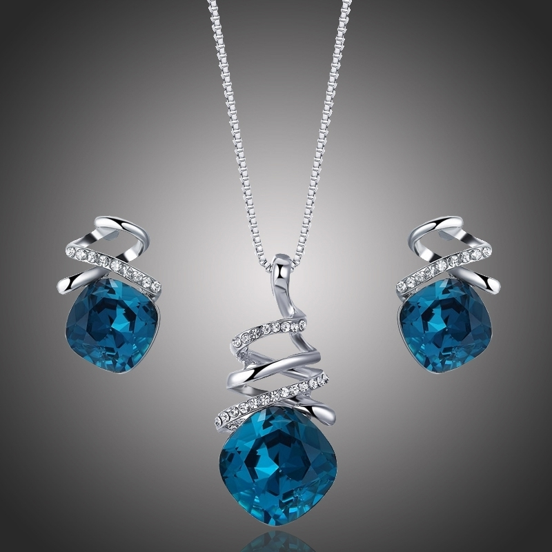 Souprava náhrdelníku a náušnic Swarovski Elements Soriana Blue
