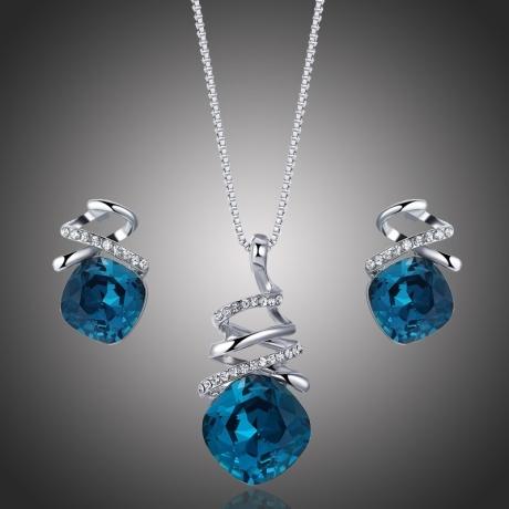 Exkluzivní souprava Swarovski Elements Soriana Blue
