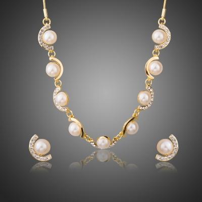 Souprava náhrdelníku a náušnic Swarovski Elements Boisia s perlou