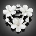 Brož Swarovski Elements Labriolla - opálové květiny