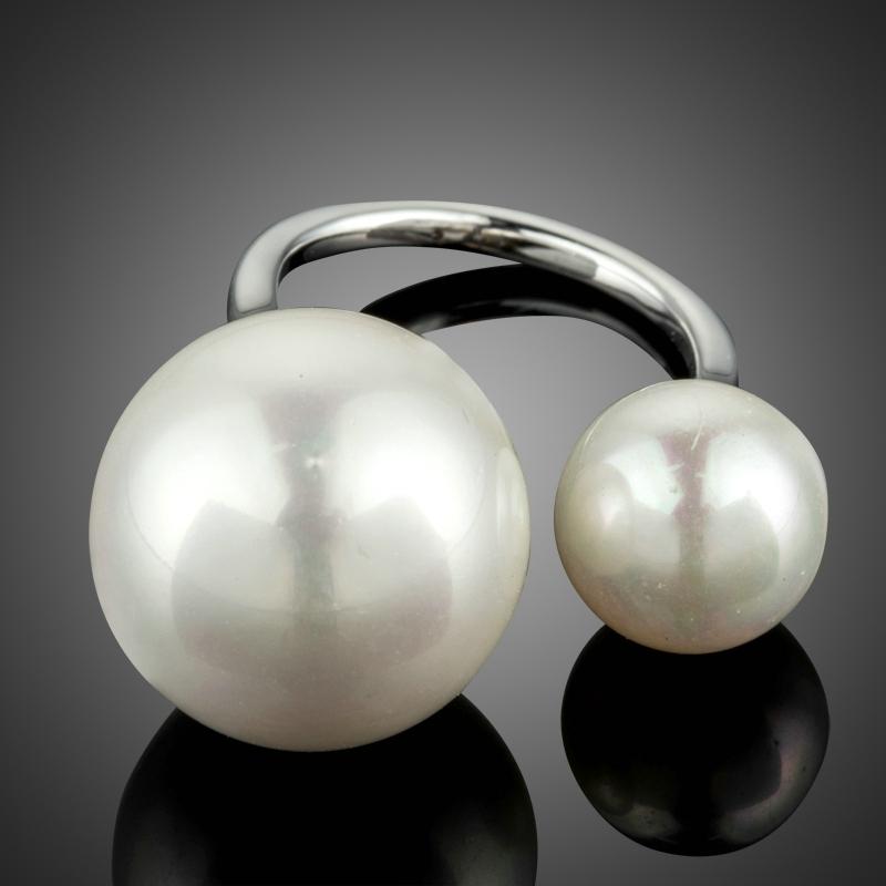 Pozlacený prsten s perlou Guttiso