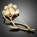Brož Swarovski Elements Bandini s perlou - květina