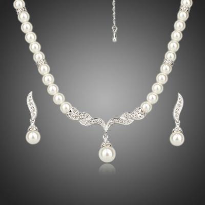 Souprava náhrdelníku a náušnic Noblessa se Swarovski perlou a zirkony