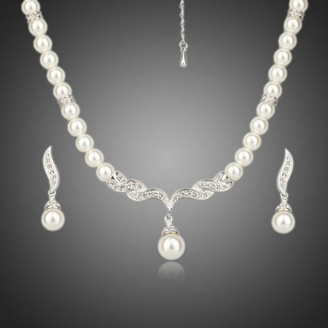 Souprava Noblessa se Swarovski perlou a zirkony