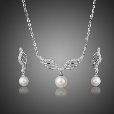 Souprava náhrdelníku a náušnic Swarovski Elements Eloisa, perla