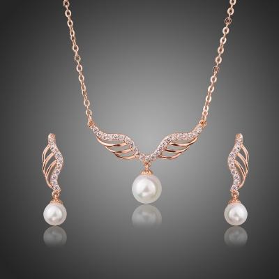 Souprava náhrdelníku a náušnic Swarovski Elements Eleonorita, perla
