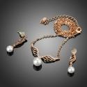 Souprava Swarovski Elements Eleonorita, perla