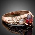 Prsten Swarovski Elements Alunni - pozlacen růžovým zlatem, zásnubní