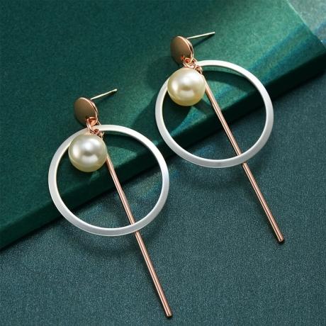 Pozlacené náušnice s perlou Niccol