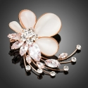 Brož Swarovski Elements Anastacia - květina