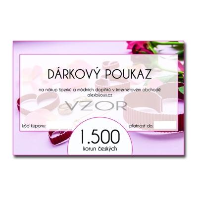 Dárkový poukaz na nákup šperků v hodnotě 1.500 Kč alexbijoux.cz