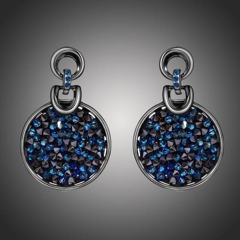 Dámské náušnice Swarovski Elements Crystal Rocks Royal Blue