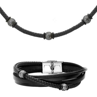 Souprava pánského náhrdelníku a náramku Ernst, chirurgická ocel