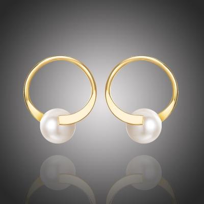 Náušnice s perlou Adolina Gold
