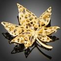 Brož s perlou a Swarovski Elements Valeria - květina