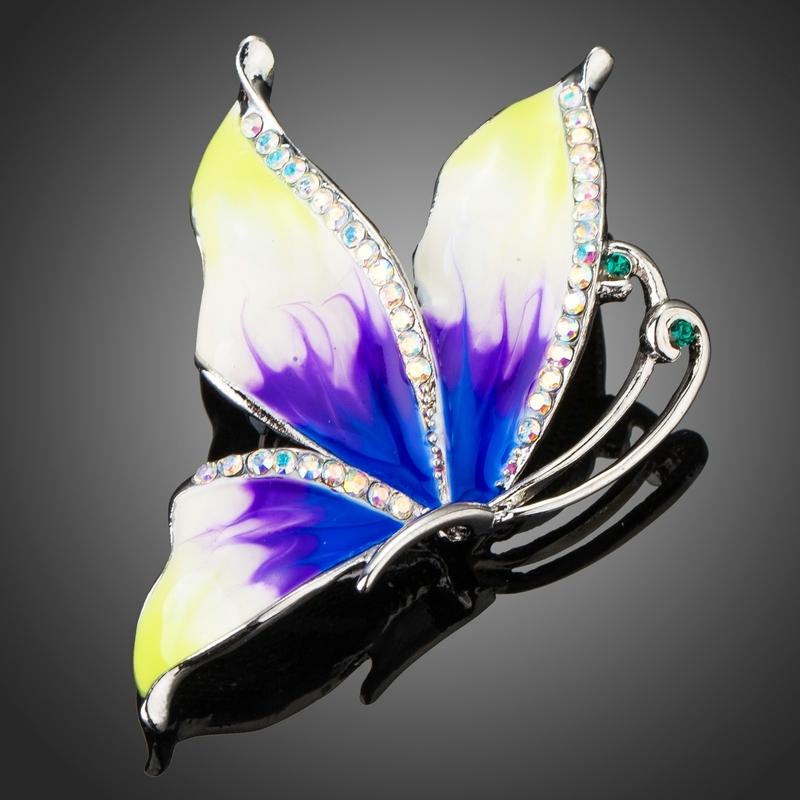 Brož Swarovski Elements Martelli - motýl
