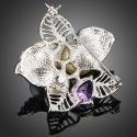 Brož Swarovski Elements Leonita - květina