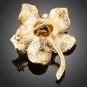 Brož Swarovski Elements Uccella - květina