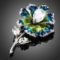 Brož Swarovski Elements Nicotera - květina